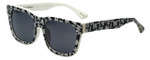 Isaac Mizrahi Designer Sunglasses IM69-99 in Black and White with Grey Lens