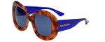Isaac Mizrahi Designer Sunglasses IM75-29 in Honey Tortoise with Blue Lens