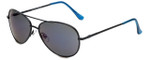 Isaac Mizrahi Designer Sunglasses IMM101-10 in Black with Purple Mirror Lens