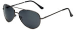 Isaac Mizrahi Designer Sunglasses IMM101-30 in Gunmetal with Grey Lens