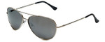 Isaac Mizrahi Designer Sunglasses IMM101-40 in Silver with Grey Lens
