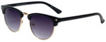 Isaac Mizrahi Designer Sunglasses IMM106-10 in Black with Purple Lens