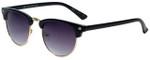 Isaac Mizrahi Designer Sunglasses IMM106-10 in Black with Purple Lens