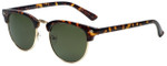 Isaac Mizrahi Designer Sunglasses IMM106-21 in Dark Tortoise with Green Lens
