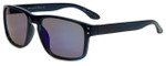 Isaac Mizrahi Designer Sunglasses IMM108-92 in Navy with Blue Mirror Lens