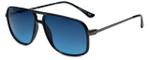 Isaac Mizrahi Designer Sunglasses IMM109-10 in Black with Blue Lens