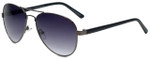 Isaac Mizrahi Designer Sunglasses IMM110-30 in Gunmetal with Purple Lens