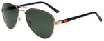 Isaac Mizrahi Designer Sunglasses IMM110-60 in Gold with Grey Lens