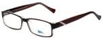 2000 and Beyond Designer Eyeglasses 3072-BRNC in Brown Crystal 56mm :: Progressive