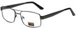 Gotham Style Designer Eyeglasses GS15-GUN in Gunmetal 56mm :: Custom Left & Right Lens