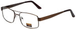 Gotham Style Designer Eyeglasses GS15-ABRN in Antique Brown 56mm :: Rx Single Vision