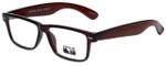 Gotham Style Designer Eyeglasses GS182-BRN in Brown 54mm :: Rx Single Vision
