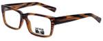 Gotham Style Designer Eyeglasses GS204-BRNS in Brown Stripe 56mm :: Progressive