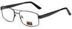 Gotham Style Designer Reading Glasses GS15-GUN in Gunmetal 56mm