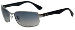 Ray-Ban Polarized Designer Sunglasses in Gunmetal with Grey Gradient Lens RB3478-004/78
