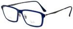 Ray-Ban Designer Eyeglasses RB7038-5451 in Matte Blue 55mm :: Custom Left & Right Lens