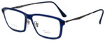 Ray-Ban Designer Eyeglasses RB7038-5451 in Matte Blue 55mm :: Rx Single Vision