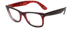 Ray-Ban Designer Eyeglasses RB2140-1200-4W in Burgundy 50mm :: Progressive