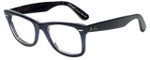 Ray-Ban Designer Eyeglasses RB2140-1203-68 in Dark Blue 50mm :: Progressive