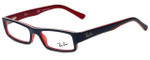Ray-Ban Designer Eyeglasses RB5246-5088-50 in Navy and Red 50mm :: Custom Left & Right Lens
