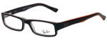 Ray-Ban Designer Eyeglasses RB5246-5091 in Black and Orange 48mm :: Custom Left & Right Lens