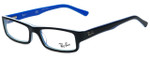 Ray-Ban Designer Eyeglasses RB5246-5151 in Black and Blue 50mm :: Custom Left & Right Lens