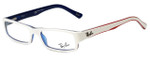 Ray-Ban Designer Eyeglasses RB5246-5089 in White Red Blue 48mm :: Rx Single Vision