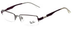 Ray-Ban Designer Eyeglasses RB6156-2628 in Gunmetal Purple 50mm :: Rx Single Vision
