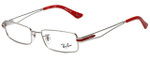 Ray-Ban Designer Eyeglasses RB6193-2501 in Silver and Red 51mm :: Rx Single Vision