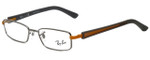 Ray-Ban Designer Eyeglasses RB6217-2620 in Silver Grey Orange 48mm :: Rx Single Vision