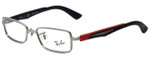 Ray-Ban Designer Eyeglasses RB6250-2620 in Silver Black Red 49mm :: Rx Single Vision