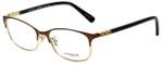 Coach Designer Eyeglasses HC5084D-9076 in Satin Brown Gold 53mm :: Progressive