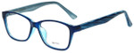 Metro Designer Eyeglasses Metro-23-Blue in Blue 47mm :: Custom Left & Right Lens