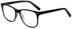 Metro Designer Eyeglasses Metro-35-Black-Crystal in Black Matte Crystal 53mm :: Custom Left & Right Lens