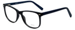 Metro Designer Eyeglasses Metro-35-Black-Navy in Matte Black Navy 53mm :: Progressive