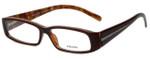 Prada Designer Eyeglasses VPR10H-70I1O1 in Brown 53mm :: Custom Left & Right Lens