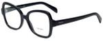Prada Designer Eyeglasses VPR25S-1AB1O1 in Black 51mm :: Rx Single Vision