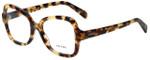 Prada Designer Eyeglasses VPR25S-7S01O1-53 in Yellow Havana 53mm :: Rx Single Vision