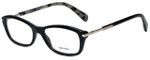 Prada Designer Eyeglasses VPR04P-1AB1O1 in Black 52mm :: Progressive