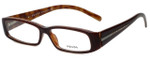 Prada Designer Eyeglasses VPR10H-70I1O1 in Brown 53mm :: Progressive