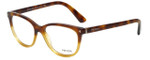 Prada Designer Eyeglasses VPR14R-TKU1O1 in Tortoise Gradient 52mm :: Rx Bi-Focal