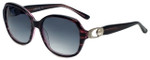 Azzaro Designer Sunglasses AZ4393-C3 in Purple Stripe Crystal 56mm