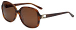 Azzaro Designer Sunglasses AZ4394-C2 in Brown Crystal 56mm
