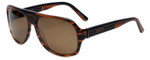 Azzaro Designer Polarized Sunglasses AZ4399-C3 in Brown Stripe Crystal 61mm