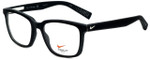 Nike Designer Eyeglasses Nike-4266-003 in Black White 53mm :: Progressive