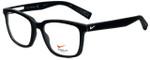 Nike Designer Eyeglasses Nike-4266-003 in Black White 53mm :: Rx Bi-Focal