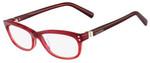 Valentino Designer Eyeglasses V2649-618 in Striped Red 54mm :: Rx Single Vision