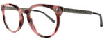 Gucci Designer Reading Glasses GG0219O-005 in Rose Marble 50mm