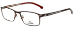 Lacoste Designer Eyeglasses L2167-210 in Satin Brown 53mm :: Rx Single Vision