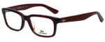 Lacoste Designer Eyeglasses L2672-615 in Red Havana 50mm :: Rx Single Vision